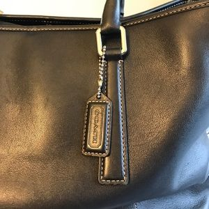 Coach Bags - Coach Black Leather Vintage Hand Held Tote Bag